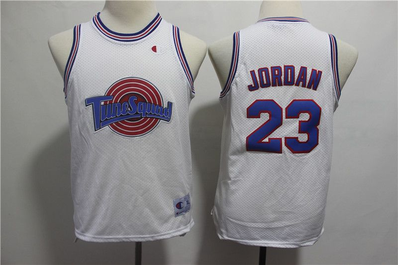 Youth Chicago Bulls 23 Jordan White Movie version NBA Jerseys