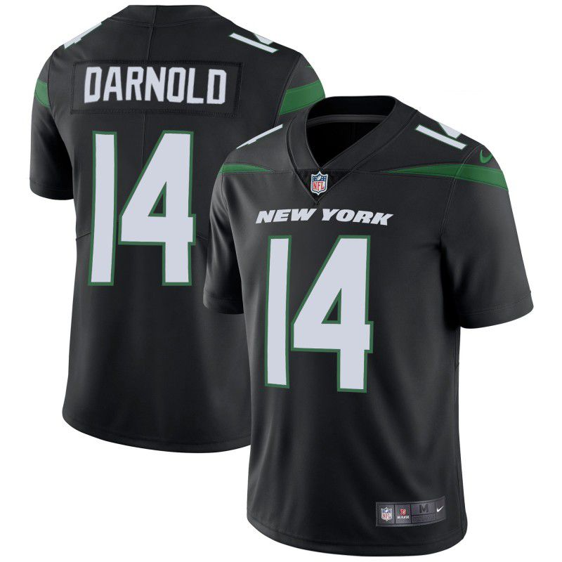 Youth New York Jets 14 Darnold Black Nike Vapor Untouchable Limited Player NFL Jerseys