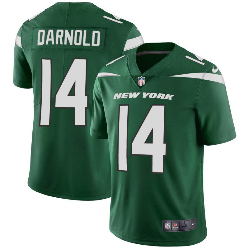 Youth New York Jets 14 Darnold Green Nike Vapor Untouchable Limited Player NFL Jerseys