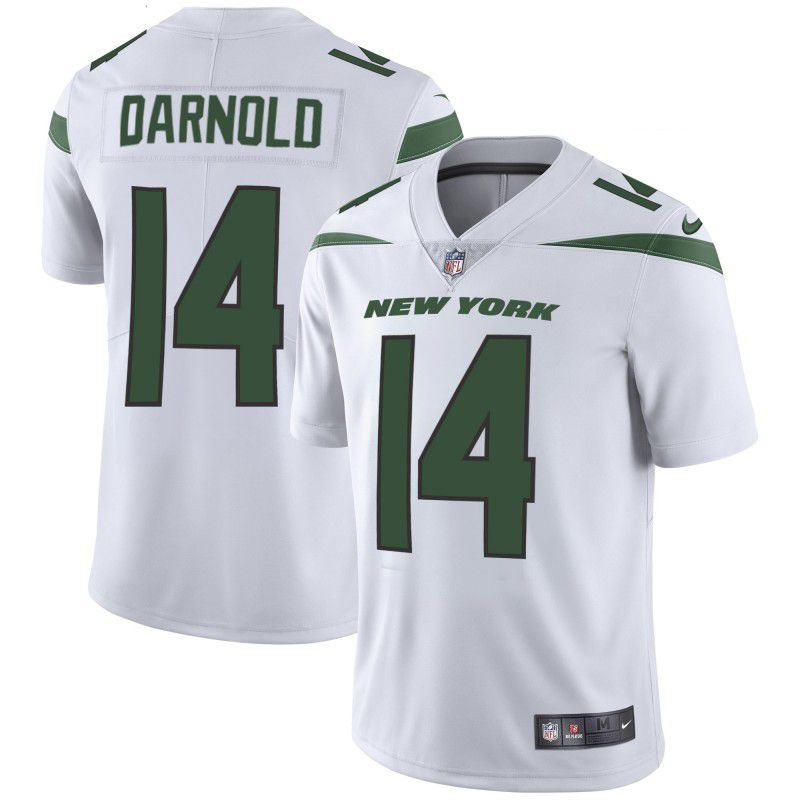Youth New York Jets 14 Darnold White Nike Vapor Untouchable Limited Player NFL Jerseys