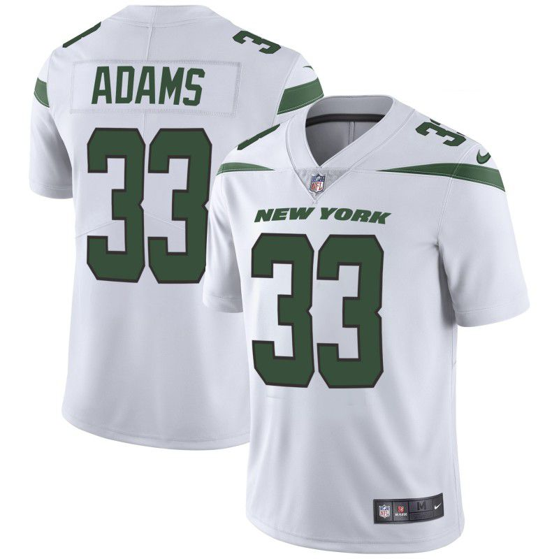 Youth New York Jets 33 Adams White Nike Vapor Untouchable Limited Player NFL Jerseys