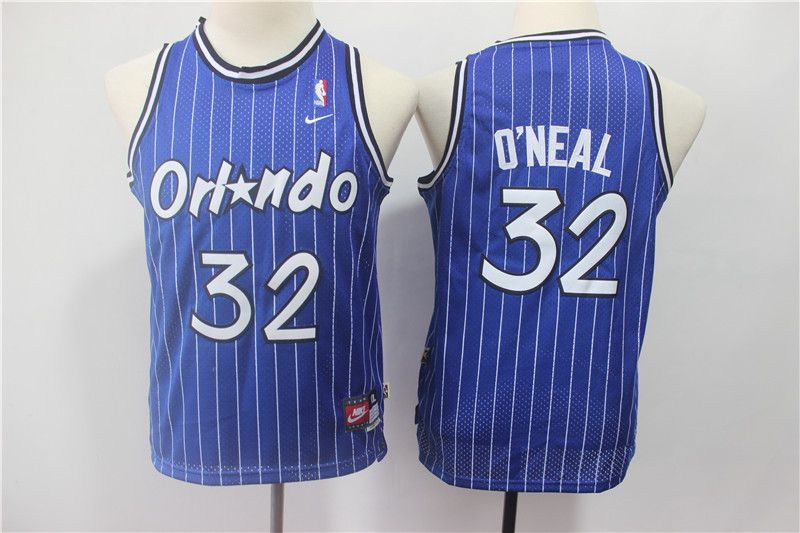 Youth Orlando Magic 32 Oneal Blue Stripe Nike NBA Jerseys
