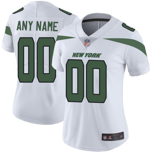 2019 NFL Customized New York Jets Road Jersey Women White Vapor Untouchable jersey