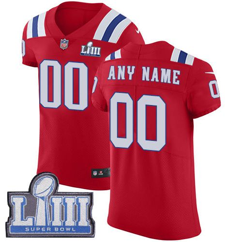 2019 NFL Men Customized New England Patriots Vapor Untouchable Super Bowl LIII red jersey