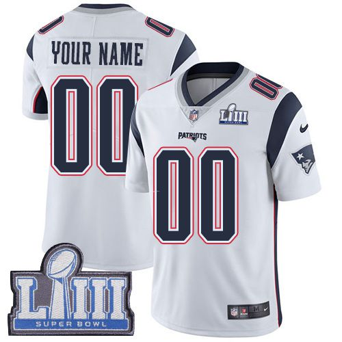 2019 NFL Men Customized New England Patriots Vapor Untouchable Super Bowl LIII jersey