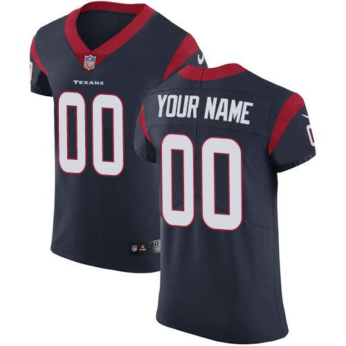 2019 NFL Men Nike Houston Texans Customized Navy Blue Team Color Vapor Untouchable jersey