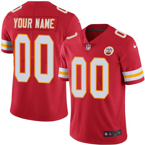 2019 NFL Men Nike Kansas City Chiefs Home Red Customized Vapor jersey