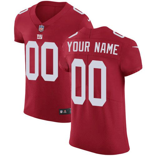 2019 NFL Men Nike New York Giants Customized Red Alternate Vapor Untouchable Custom jersey