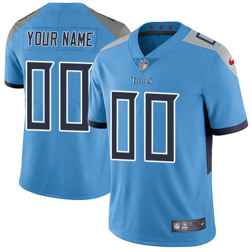 2019 NFL Men Nike Tennessee Titans Light Blue Alternate Customized Vapor jersey