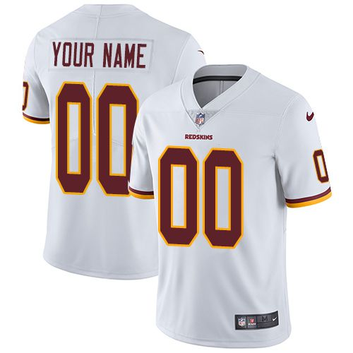2019 NFL Men Nike Washington Redskins Road White Customized Vapor jersey