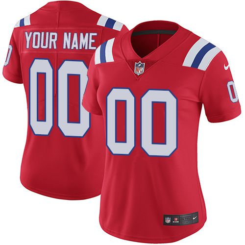 2019 NFL Women Nike New England Patriots Alternate Red Customized Vapor jersey
