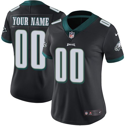 2019 NFL Women Nike Philadelphia Eagles Alternate Black Customized Vapor jersey