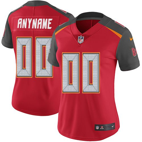 2019 NFL Women Nike Tampa Bay Buccaneers Home Red Customized Vapor jersey