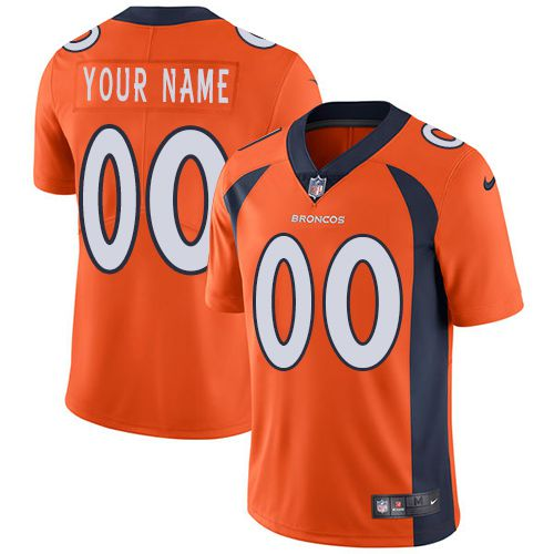 2019 NFL Youth Nike Denver Broncos Home Orange Customized Vapor Untouchable Player jersey