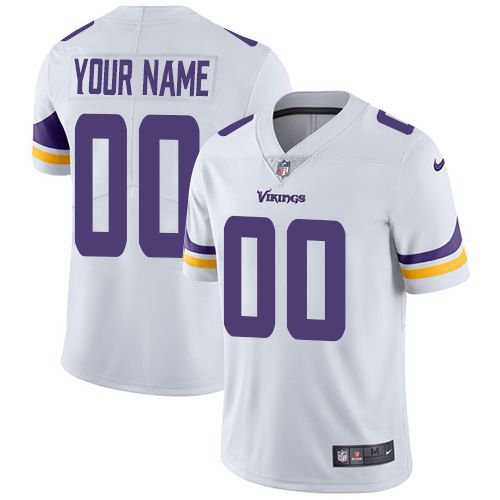 2019 NFL Youth Nike Minnesota Vikings Road White Customized Vapor jersey