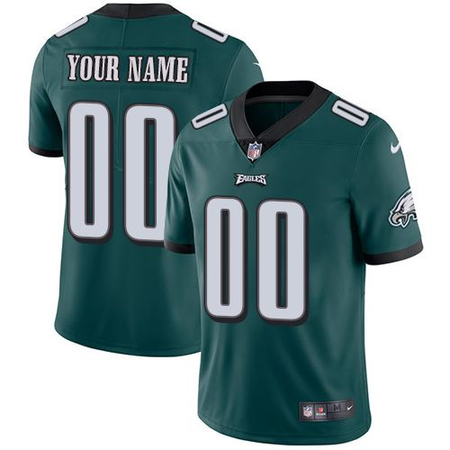 2019 NFL Youth Nike Philadelphia Eagles Home Midnight Green Customized Vapor jersey