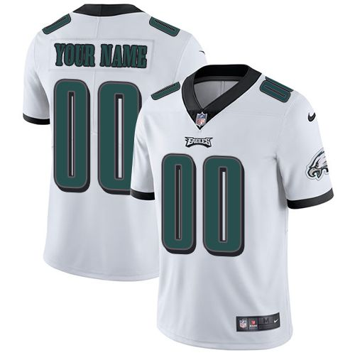 2019 NFL Youth Nike Philadelphia Eagles Road White Customized Vapor jersey