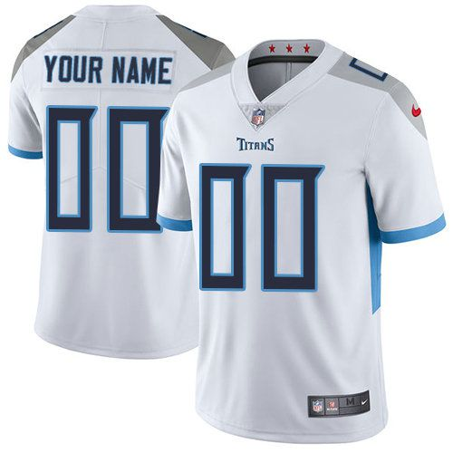47ae4413f 2019 NFL Youth Nike Tennessee Titans White Road Customized Vapor  Untouchable Limited jersey
