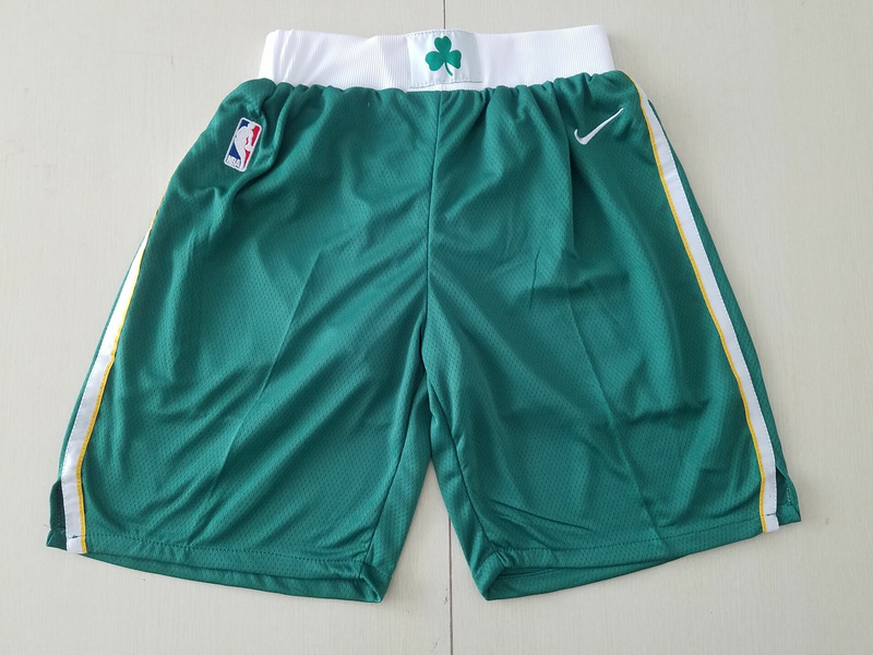 Men 2019 NBA Nike Boston Celtics green shorts style2