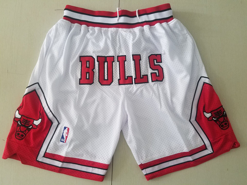 Men 2019 NBA Nike Chicago Bulls white shorts