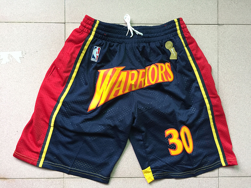 Men 2019 NBA Nike Golden State Warriors black shorts style 2