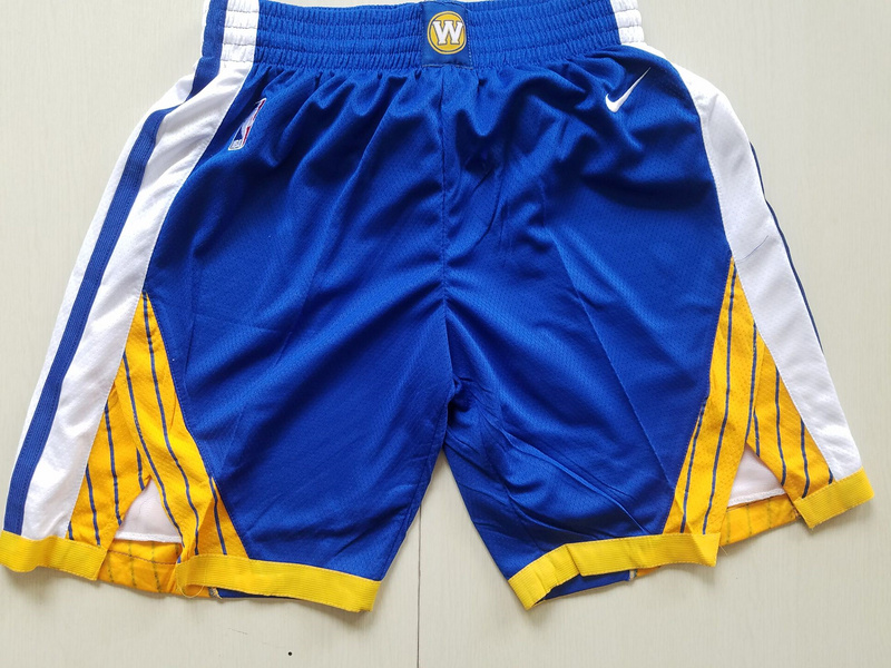 Men 2019 NBA Nike Golden State Warriors blue shorts