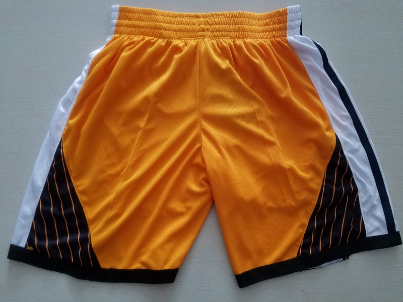 Men 2019 NBA Nike Golden State Warriors yellow shorts