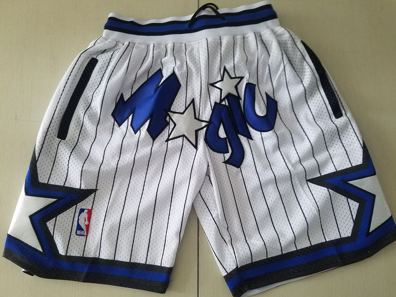 Men 2019 NBA Nike Orlando Magic white shorts