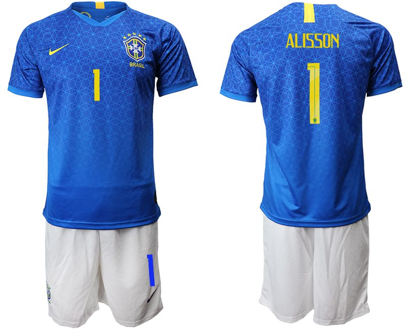 Men 2019-2020 Season National Team Brazil 1 blue Soccer Jerseys