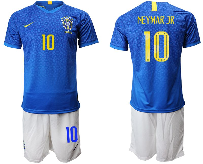 Men 2019-2020 Season National Team Brazil 10 blue Soccer Jerseys