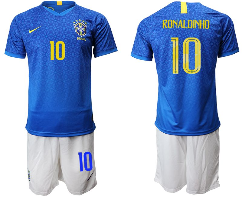 Men 2019-2020 Season National Team Brazil 10 blue Soccer Jerseys1