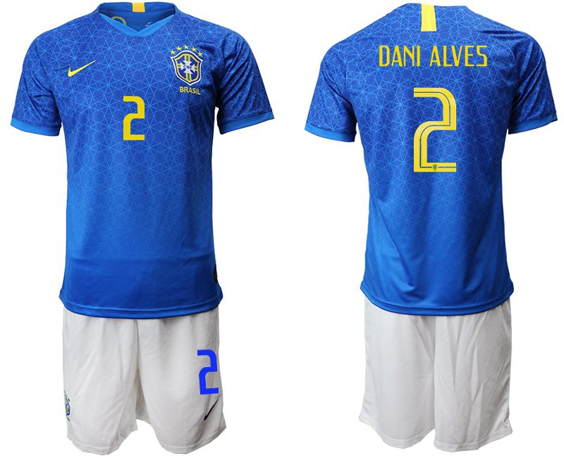 Men 2019-2020 Season National Team Brazil 2 blue Soccer Jerseys