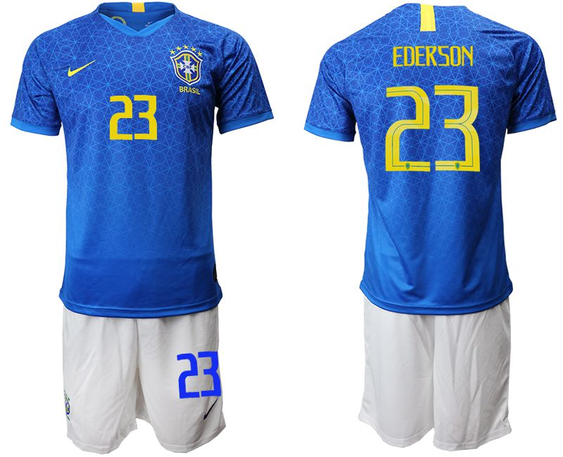Men 2019-2020 Season National Team Brazil 23 blue Soccer Jerseys