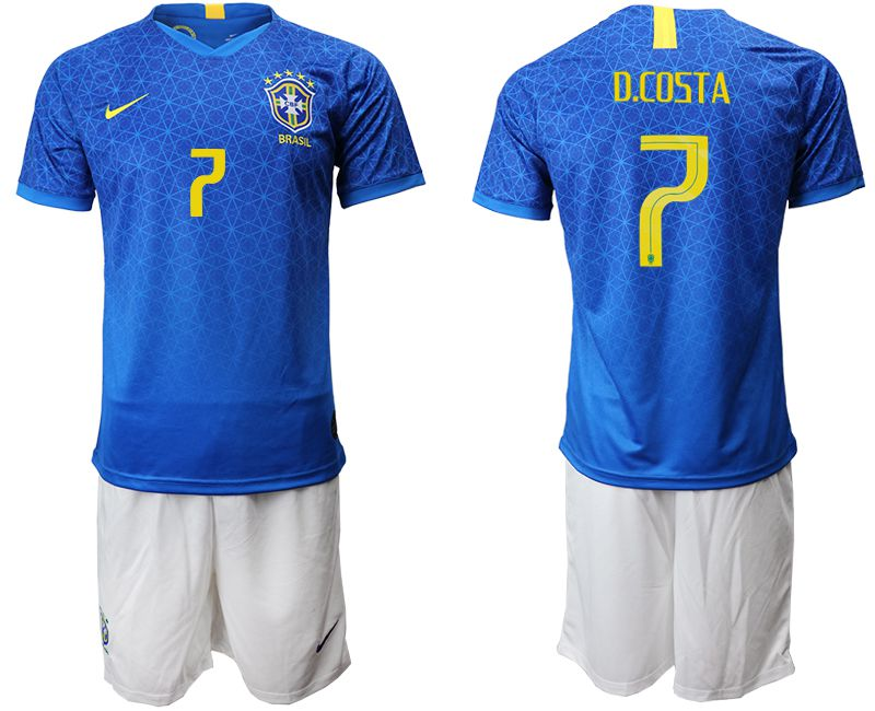 Men 2019-2020 Season National Team Brazil 7 blue Soccer Jerseys