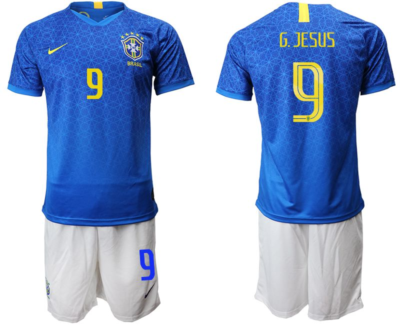 Men 2019-2020 Season National Team Brazil 9 blue Soccer Jerseys
