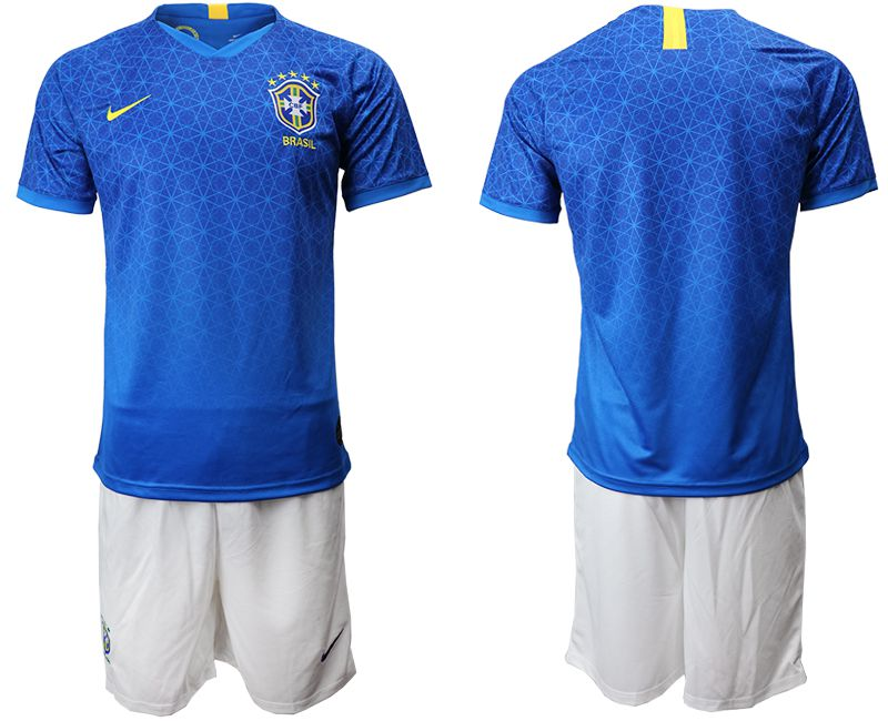 Men 2019-2020 Season National Team Brazil blue Soccer Jerseys