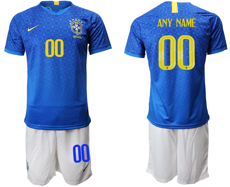 Men 2019-2020 Season National Team Brazil customized blue Soccer Jerseys