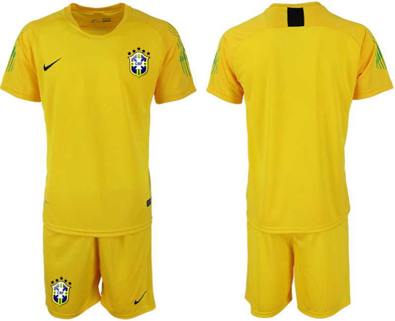 Men 2019-2020 Season National Team Brazil yellow goalkeeper Soccer Jerseys