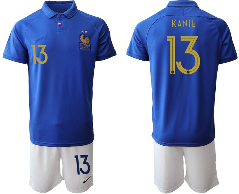 Men 2019-2020 Season National Team France Centenary edition suit 13 blue Soccer Jerseys