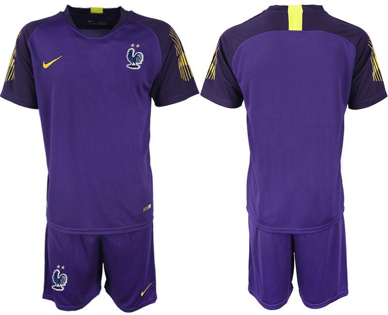 ceec3d38b2d Men 2019-2020 Season National Team France violet goalkeeper Soccer Jerseys