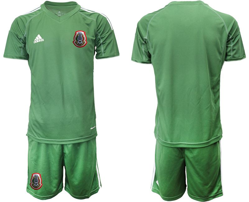 Men 2019-2020 Season National Team Mexico army green goalkeeper Soccer Jerseys