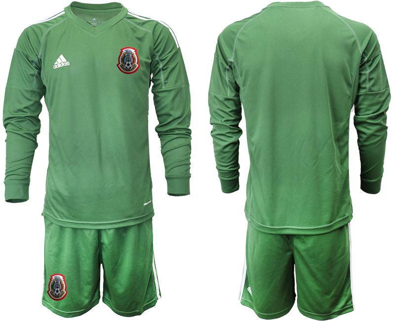 Men 2019-2020 Season National Team Mexico army green long sleeve goalkeeper Soccer Jerseys