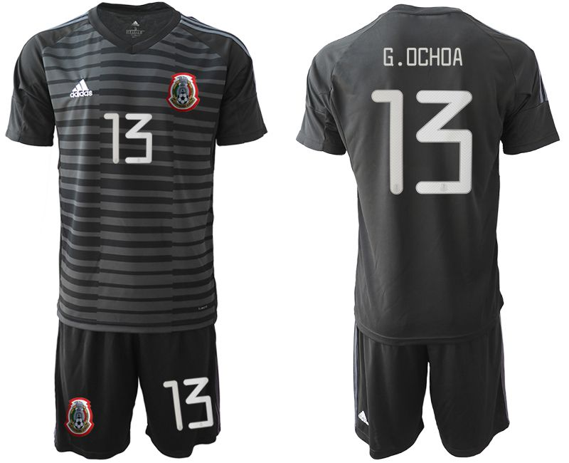Men 2019-2020 Season National Team Mexico black goalkeeper 13 Soccer Jerseys