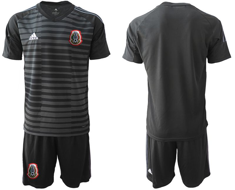 Men 2019-2020 Season National Team Mexico black goalkeeper Soccer Jerseys