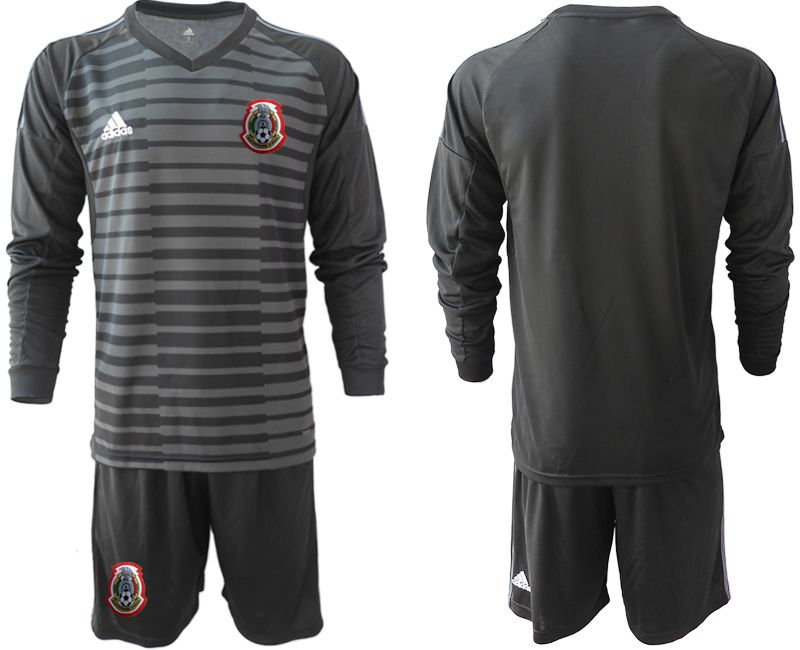 Men 2019-2020 Season National Team Mexico black long sleeve goalkeeper Soccer Jerseys