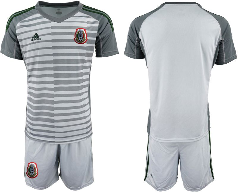 Men 2019-2020 Season National Team Mexico gray goalkeeper Soccer Jerseys