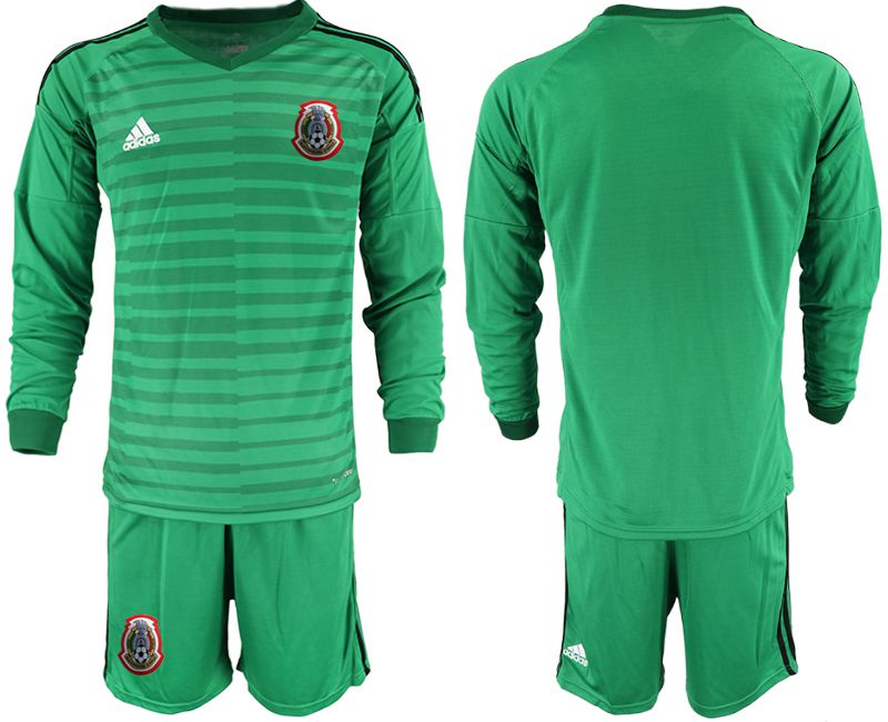 Men 2019-2020 Season National Team Mexico green long sleeve goalkeeper Soccer Jerseys