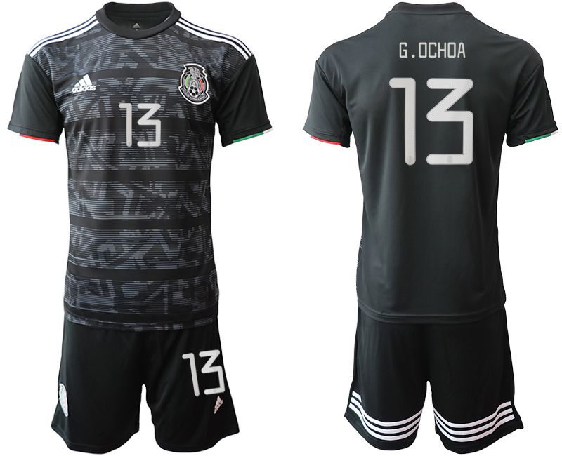 Men 2019-2020 Season National Team Mexico home 13 black Soccer Jerseys