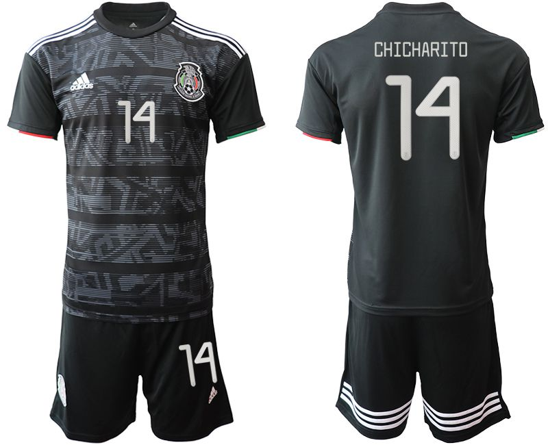 Men 2019-2020 Season National Team Mexico home 14 black Soccer Jerseys1