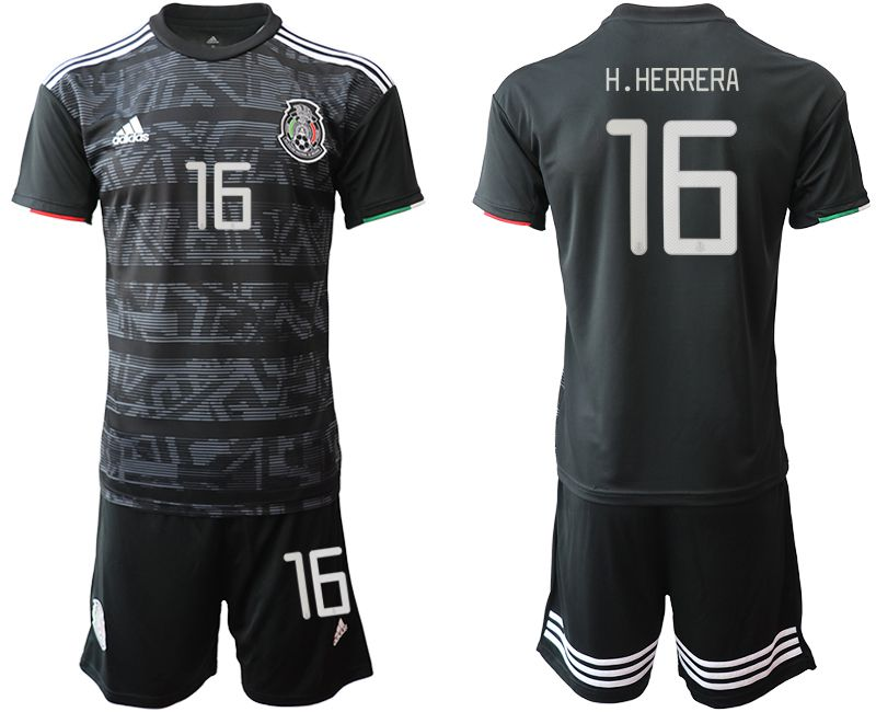 Men 2019-2020 Season National Team Mexico home 16 black Soccer Jerseys